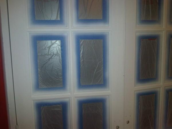 HVLP painting an interior glazed door