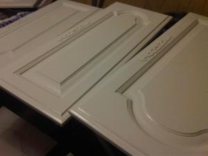pine doors sprayed with acrylic latex semi gloss